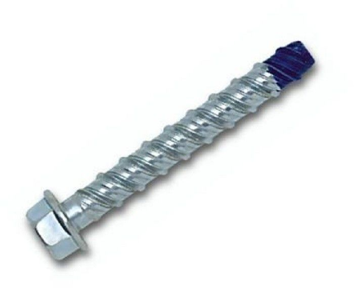 Small High Low Thread Blue Hex Head Bolts , Alloy Steel Concrete Wedge Anchor Bolt