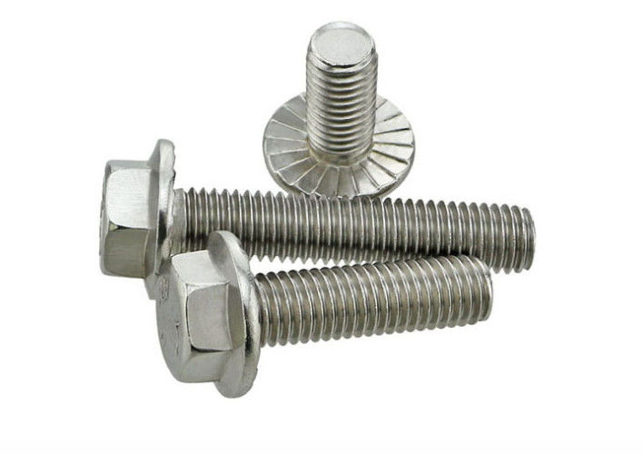 DIN6921 Plain Finish Bicycle Hex Head Bolts ,  3/8 '' ~ 3/4 '' Bed Frame Fasteners